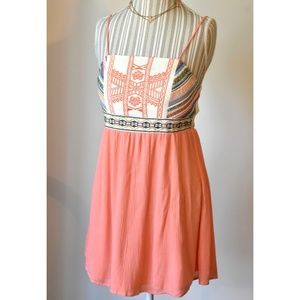 Flying Tomato Southwestern Peach | Cream Sundress